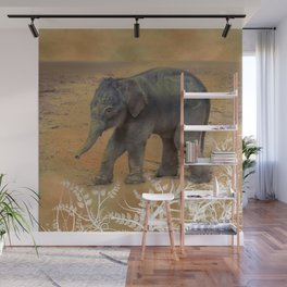 Cute Baby Elephant Wall Mural