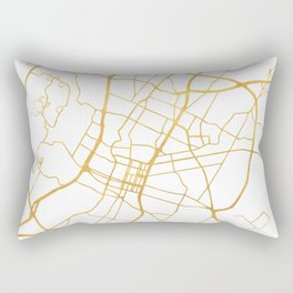 AUSTIN TEXAS CITY STREET MAP ART Rectangular Pillow