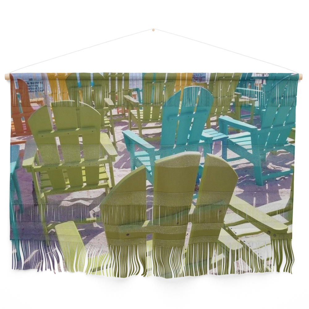 Colorful Chairs Wall Hanging by constantlycreating