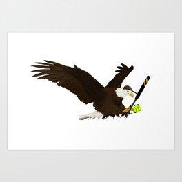 Softball Eagle Art Print