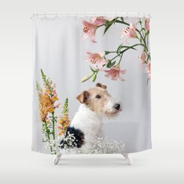 My baby sent me flowers Shower Curtain