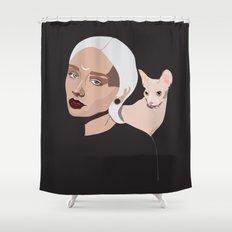 Grey Goddess Shower Curtain