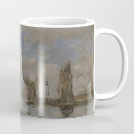Eugne Boudin - Entree du port de Trouville a maree haute Coffee Mug