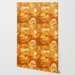 """Amber Quartz Solar Orange Crystal Opal Gem Stone"" Wallpaper"