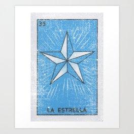 La Estrella Mexican Loteria Bingo Card Kunstdrucke