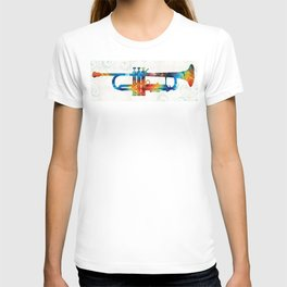 Colorful Trumpet Art Color Fusion By Sharon Cummings T-shirt