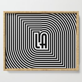 LA echo / Lined frame expanding from LA text Serving Tray