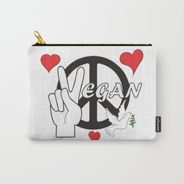 Vegan - Peace and Love Carry-All Pouch