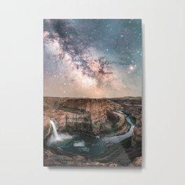 Canyon Milky Way Stars Metal Print