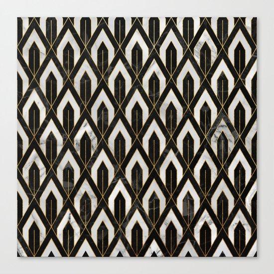 Art Deco Marble Pattern Canvas Print