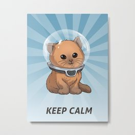 Keep Calm Kitty Metal Print