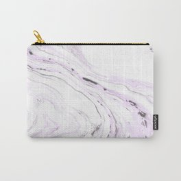 Light purple marble Carry-All Pouch
