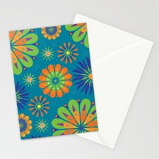 Psycho Flower Blue Stationery Cards