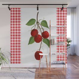 Country Cherries Wall Mural