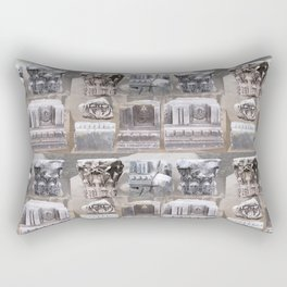 Roman Rubble Pattern Rectangular Pillow