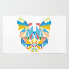 Diamond Kaleidoscopic Cat Rug