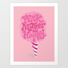 cotton candy pinkaholic Art Print