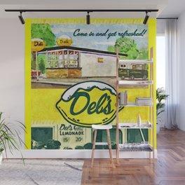 Vintage Del's Lemonade Rhode Island Vintage Advertising Poster Wall Mural