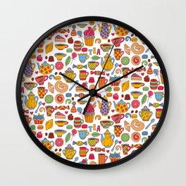 Tea time doodles Wall Clock