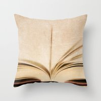 kindle Throw Pillows featuring Silent Reading II by Rose Etiennette