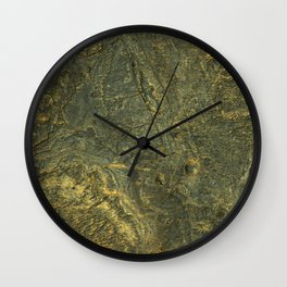 golden scales of the dragon ares | space #14 Wall Clock