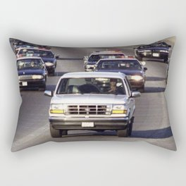 OJ Simpson Car Chase Rectangular Pillow