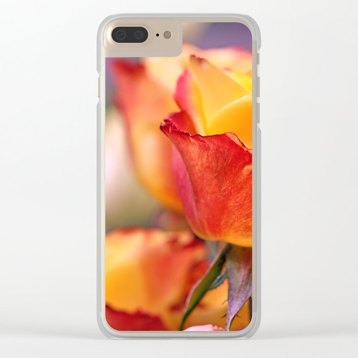 Romantic rose 3 Clear iPhone Case