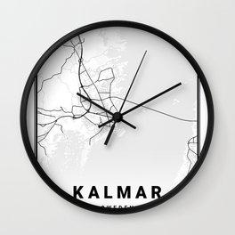 Kalmar Light City Map Wall Clock