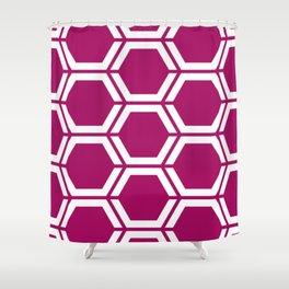 Jazzberry jam - violet - Geometric Polygon Pattern Shower Curtain