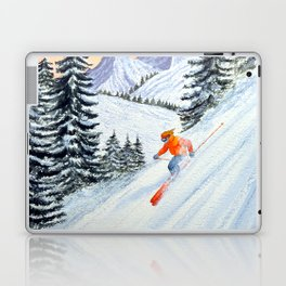 Skiing - The Clear Lady Leader Laptop & iPad Skin
