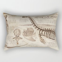 "Loch Ness Monster: ""The Living Plesiosaurus"" - The lost notebook account Rectangular Pillow"