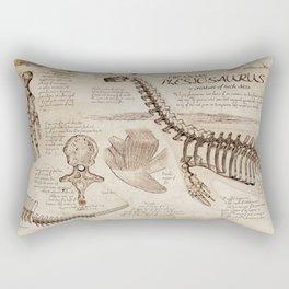 "Loch Ness Monster: ""The Living Plesiosaurus"" - The lost notebook account Rectangular Pillow"