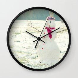 But Snowmen Can't Talk Wall Clock