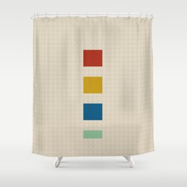 four elements || tweed & primary colors Shower Curtain