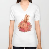 hare V-neck T-shirts featuring Hare by batcii