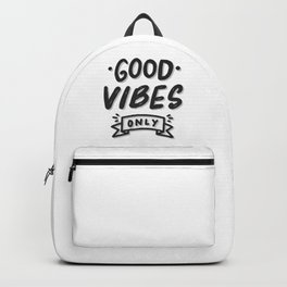 Good Vibes Only illustration Backpack