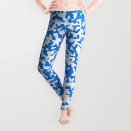 Small Spots - White and Dodger Blue Leggings