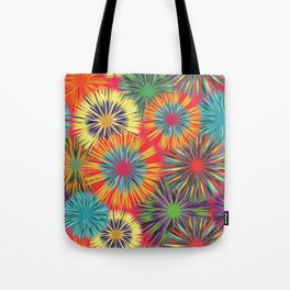 Bright Colorful Abstract Flowers Tote Bag