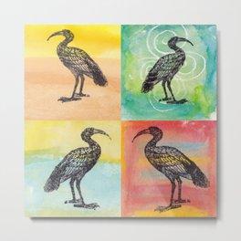 Four Ibis Silhouettes Metal Print