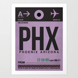 PHX Phoenix Luggage Tag 1 Art Print