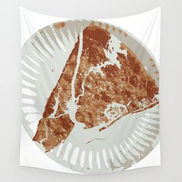 Pizza Map Wall Tapestry