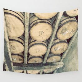 Kentucky Bourbon Barrels Color Photo Wall Tapestry