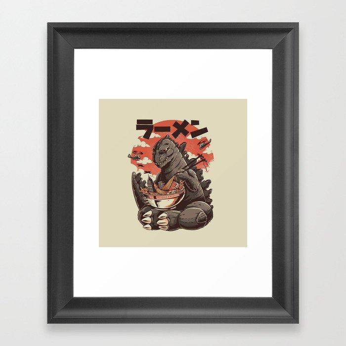 Kaiju's Ramen Gerahmter Kunstdruck
