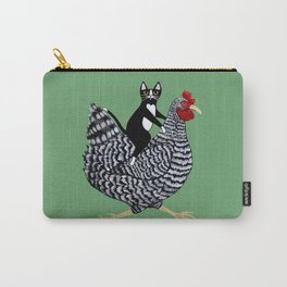 Cat on a Chicken Carry-All Pouch