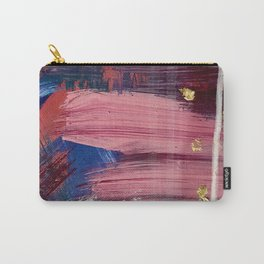 Los Angeles [3]: A vibrant, abstract piece in reds and blues and gold by Alyssa Hamilton Art Carry-All Pouch