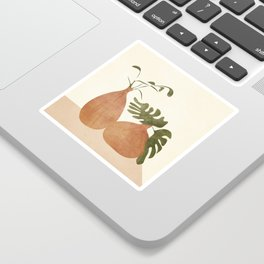 Two Living Vases Sticker