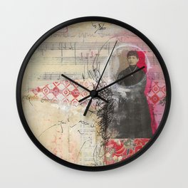 Powder Your Face Wall Clock