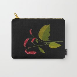 Polygonum Orientale Mary Delany Floral Paper Collage Delicate Vintage Flowers Carry-All Pouch