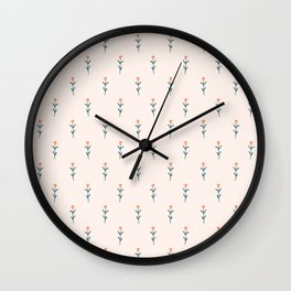 Tiny Flowers Pattern Wall Clock