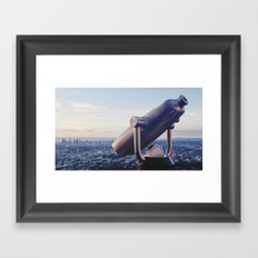 Watching over Los Angeles Framed Art Print